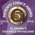 Patients' Choice Award 5-Year